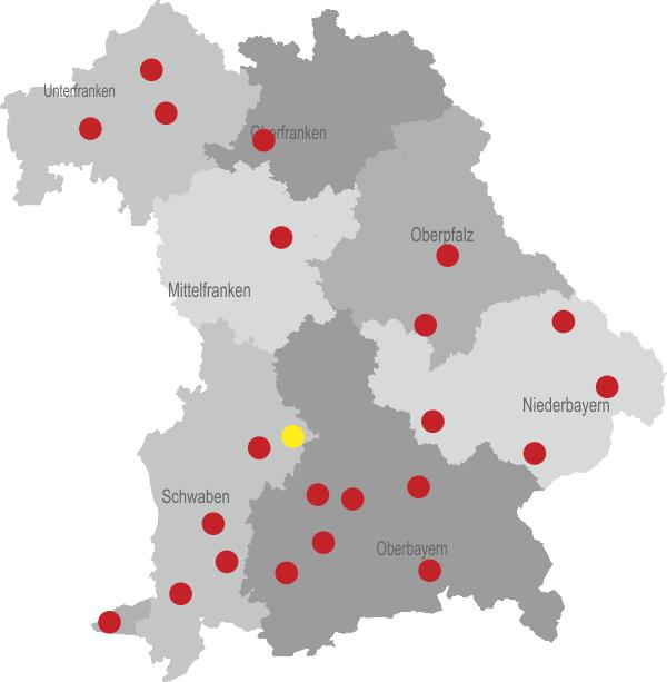 Mittelfranken Karte.Karte Pfad Für Kinder Landesverband Der Pflege Und